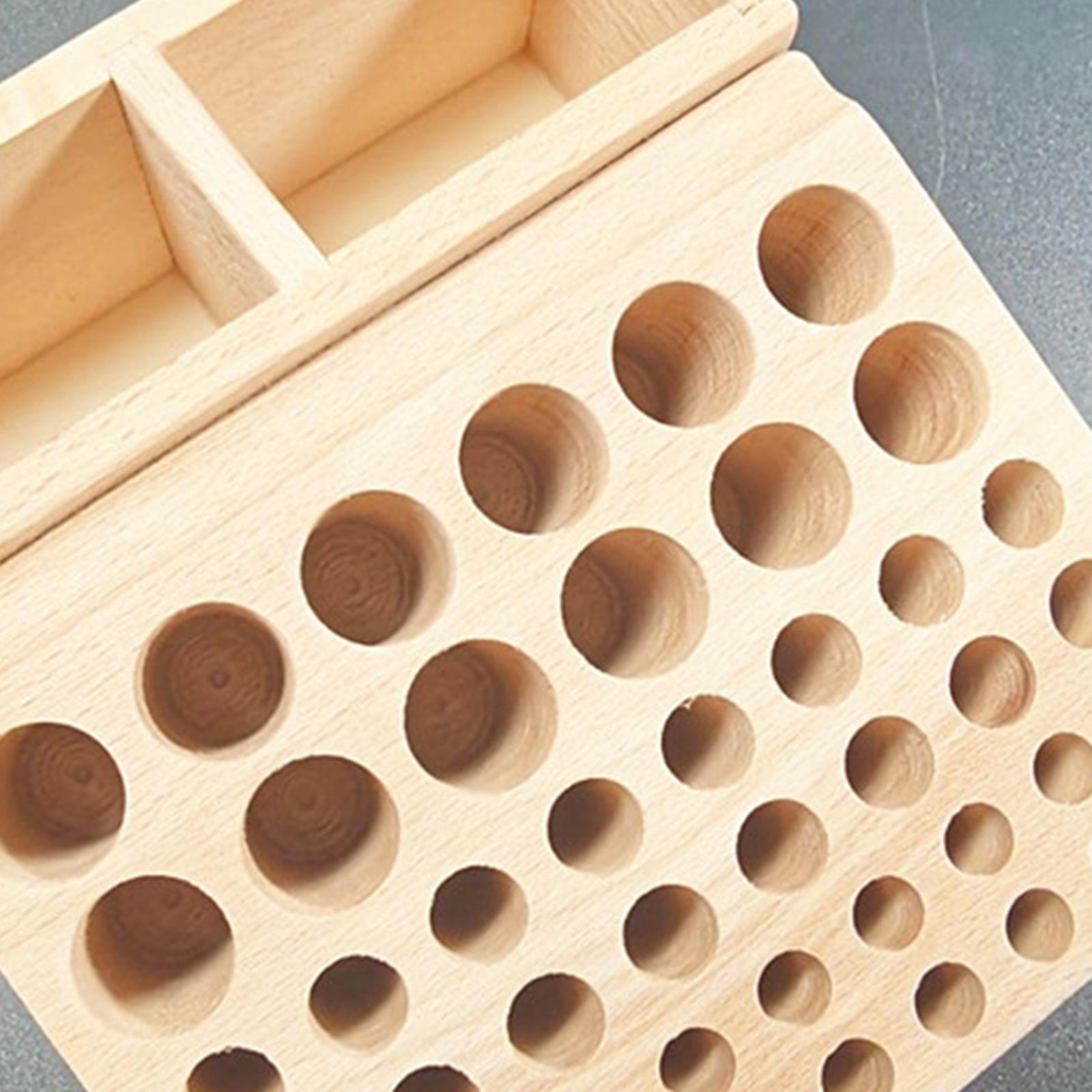 Indexbild 4 - Holz-Leder-Punch-Handwerk-Werkzeug-Rack-46-98-Loecher-Leathercraft-Stehen-Halter