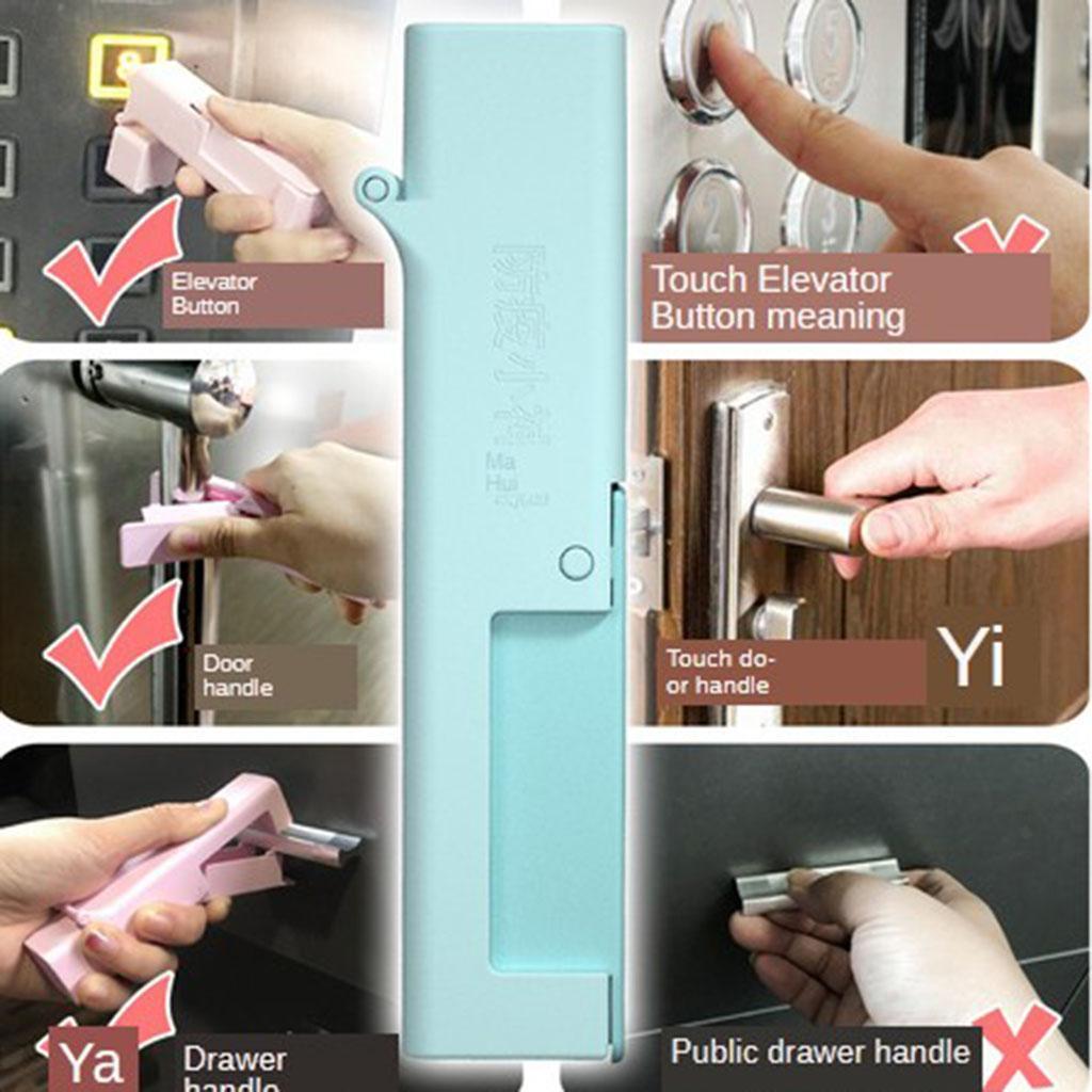 No Touch Open Door Self Disinfectant Tool Elevator Press Stick Avoid Contacting