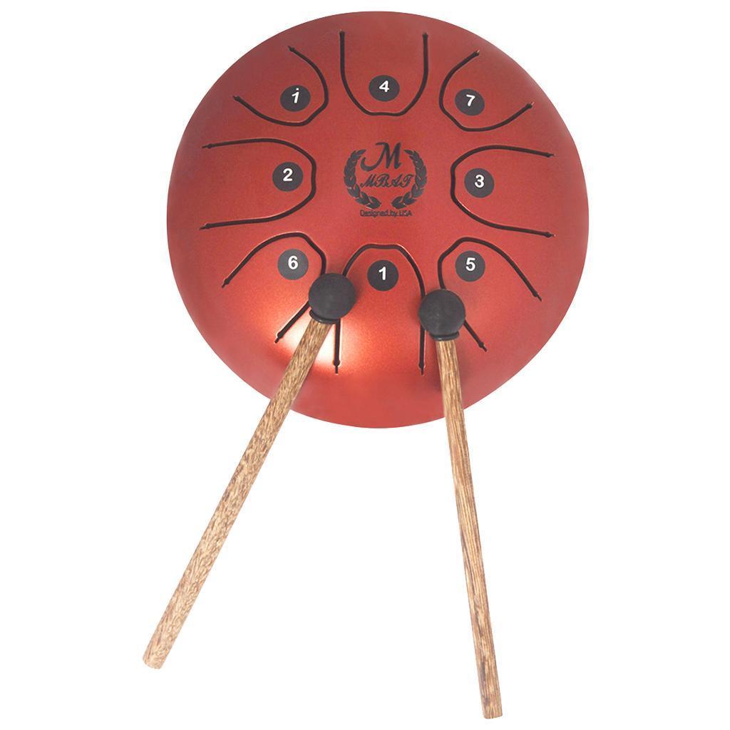5-5-Tongue-Drum-C-Tune-8-Notes-Steel-w-Drumstick-Storage-Bag-7-Colors thumbnail 6