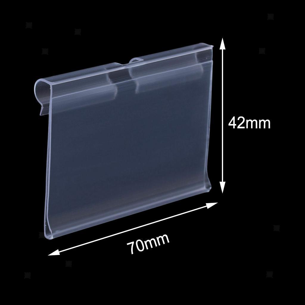 Porte-etiquette-En-Plastique-Transparent-Porte-etiquette-De-Prix-De-Detail miniature 12