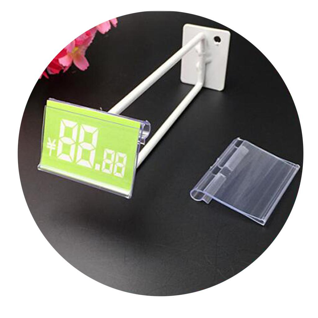 Porte-etiquette-En-Plastique-Transparent-Porte-etiquette-De-Prix-De-Detail miniature 13