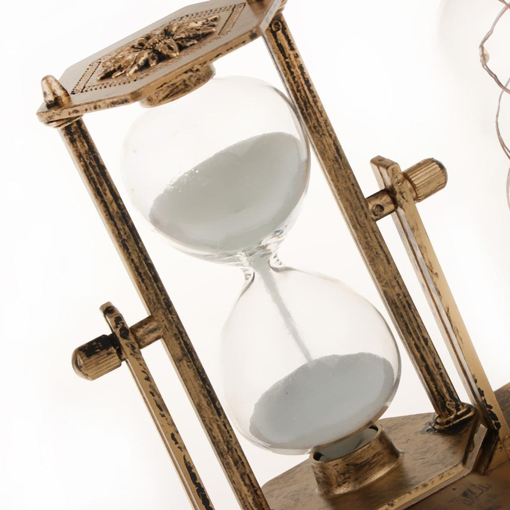 thumbnail 3 - Hourglass Sand Timer with Built-in Light for Bedroom Wine Cabinet Decor