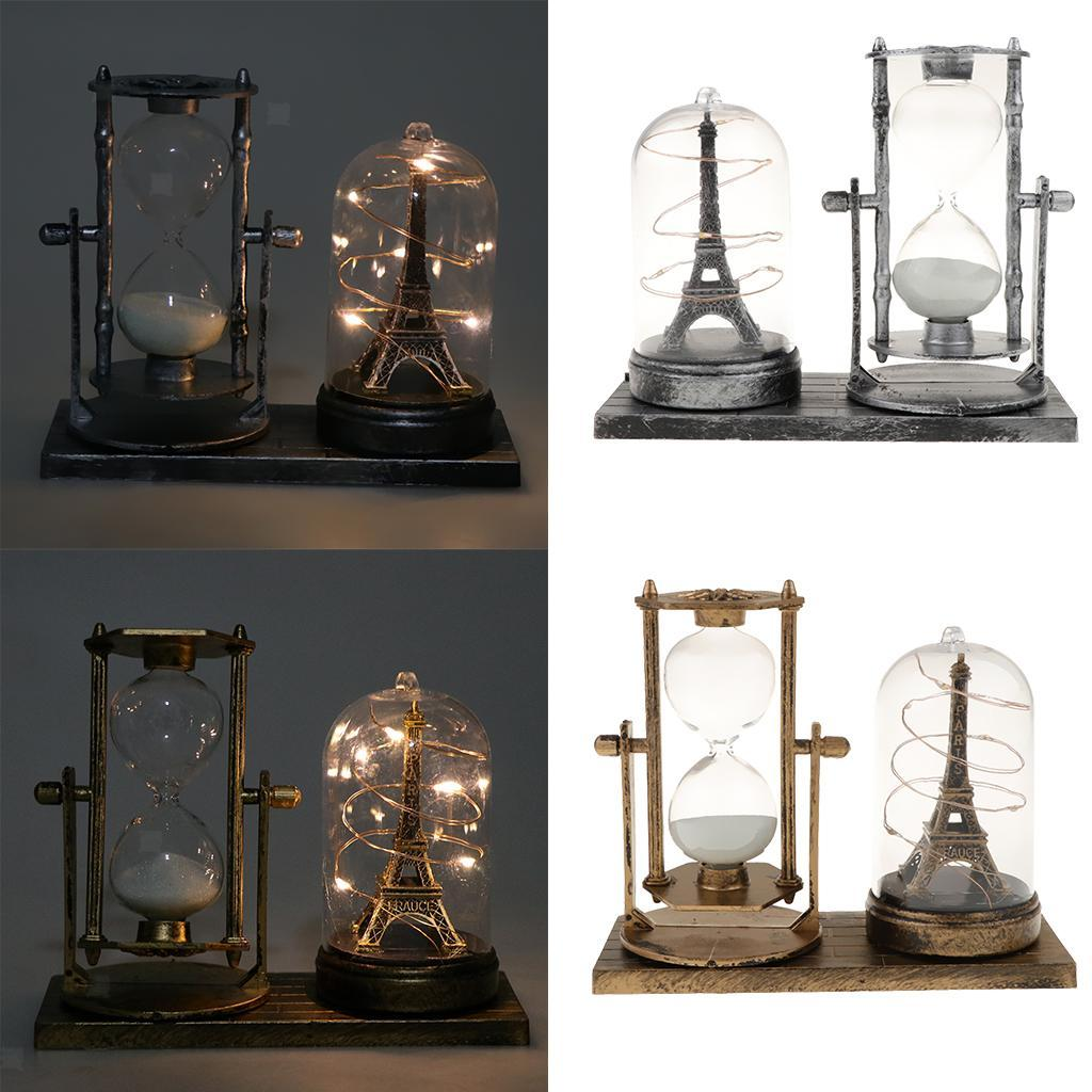 thumbnail 4 - Hourglass Sand Timer with Built-in Light for Bedroom Wine Cabinet Decor