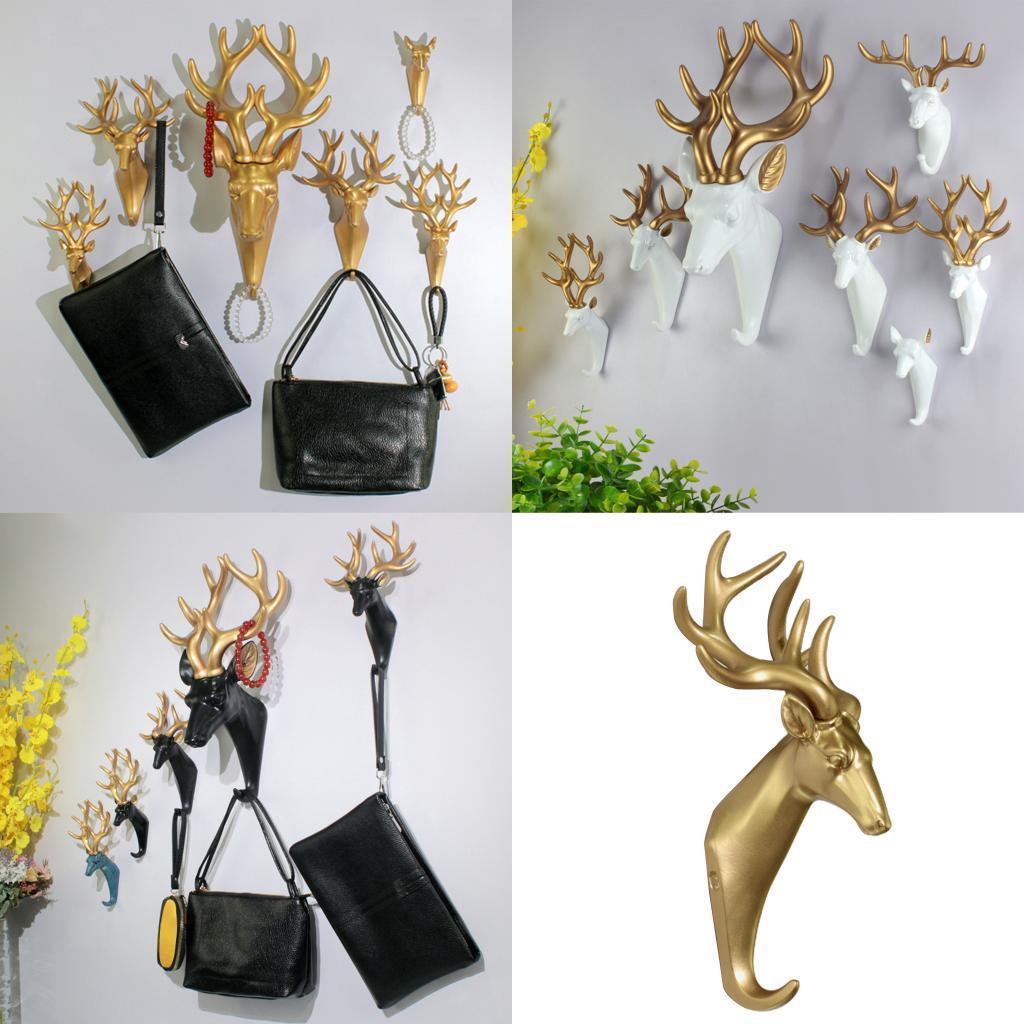 Casa-Decorativo-Scultura-A-Parete-di-Testa-di-Animale-Gancio-Mestiere-Della miniatura 31