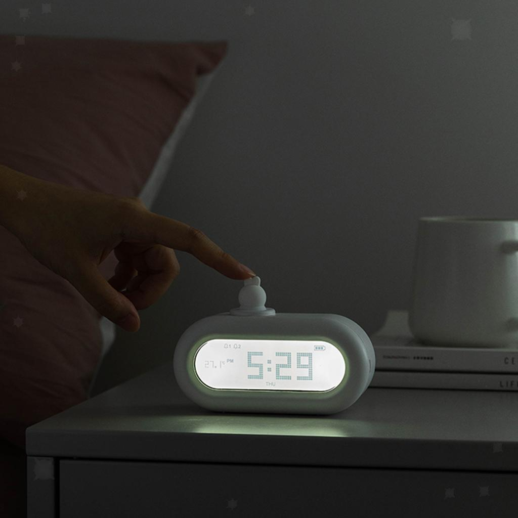 Cute-Cartoon-Bella-Animali-Nightlight-Alarm-Orologi-per-la-Camera-Da-Letto miniatura 11