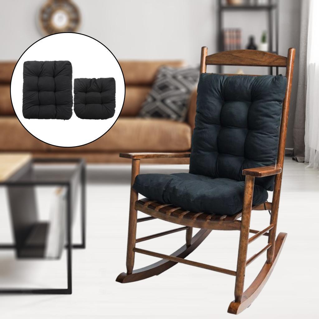 miniature 23 - Ensemble de coussins de chaise berçante inclinable avec attaches Jardin