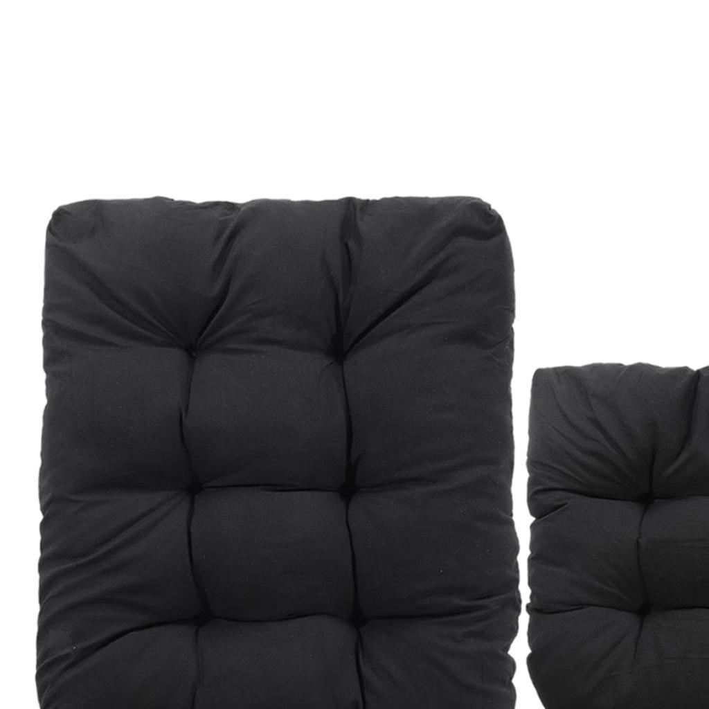 miniature 26 - Ensemble de coussins de chaise berçante inclinable avec attaches Jardin