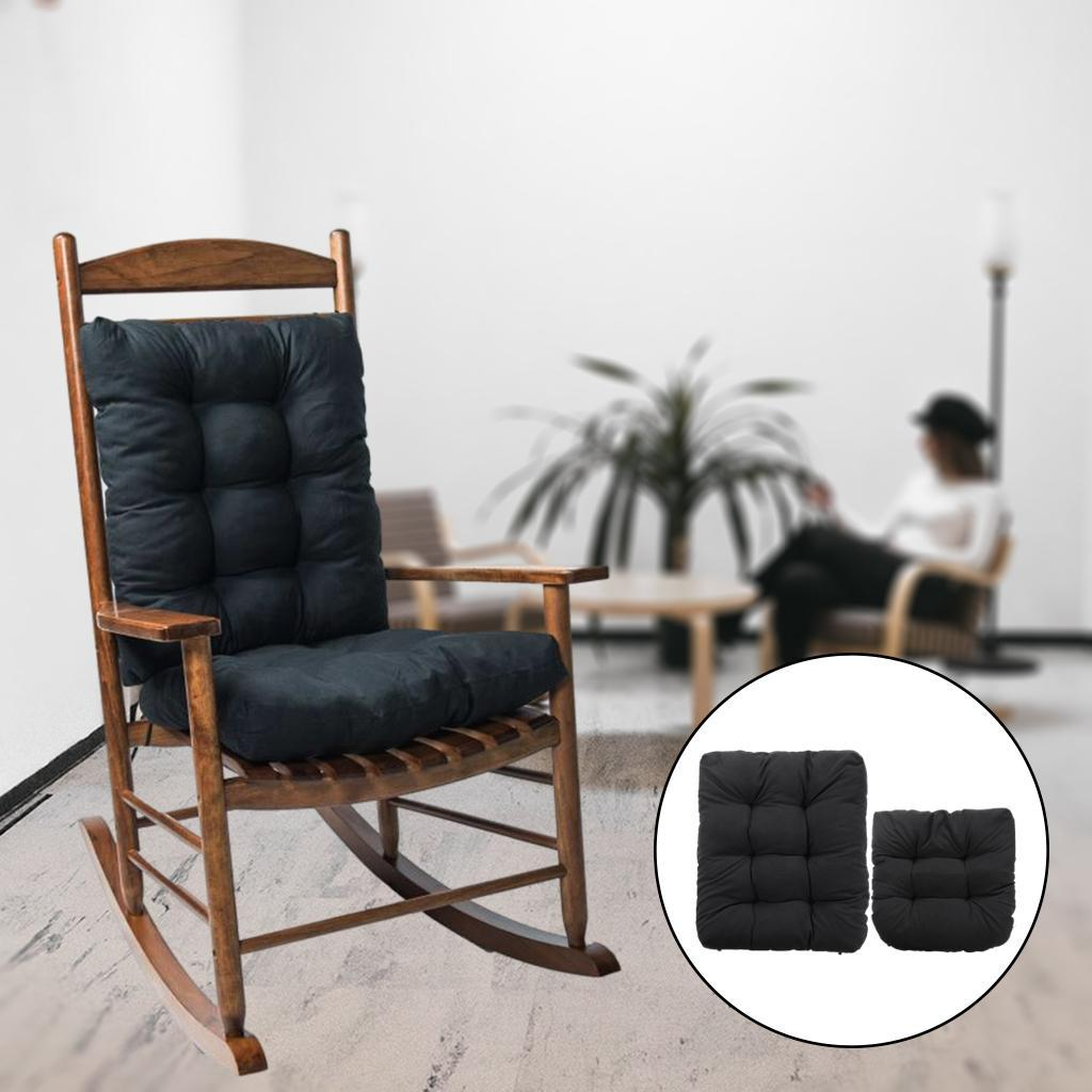 miniature 25 - Ensemble de coussins de chaise berçante inclinable avec attaches Jardin