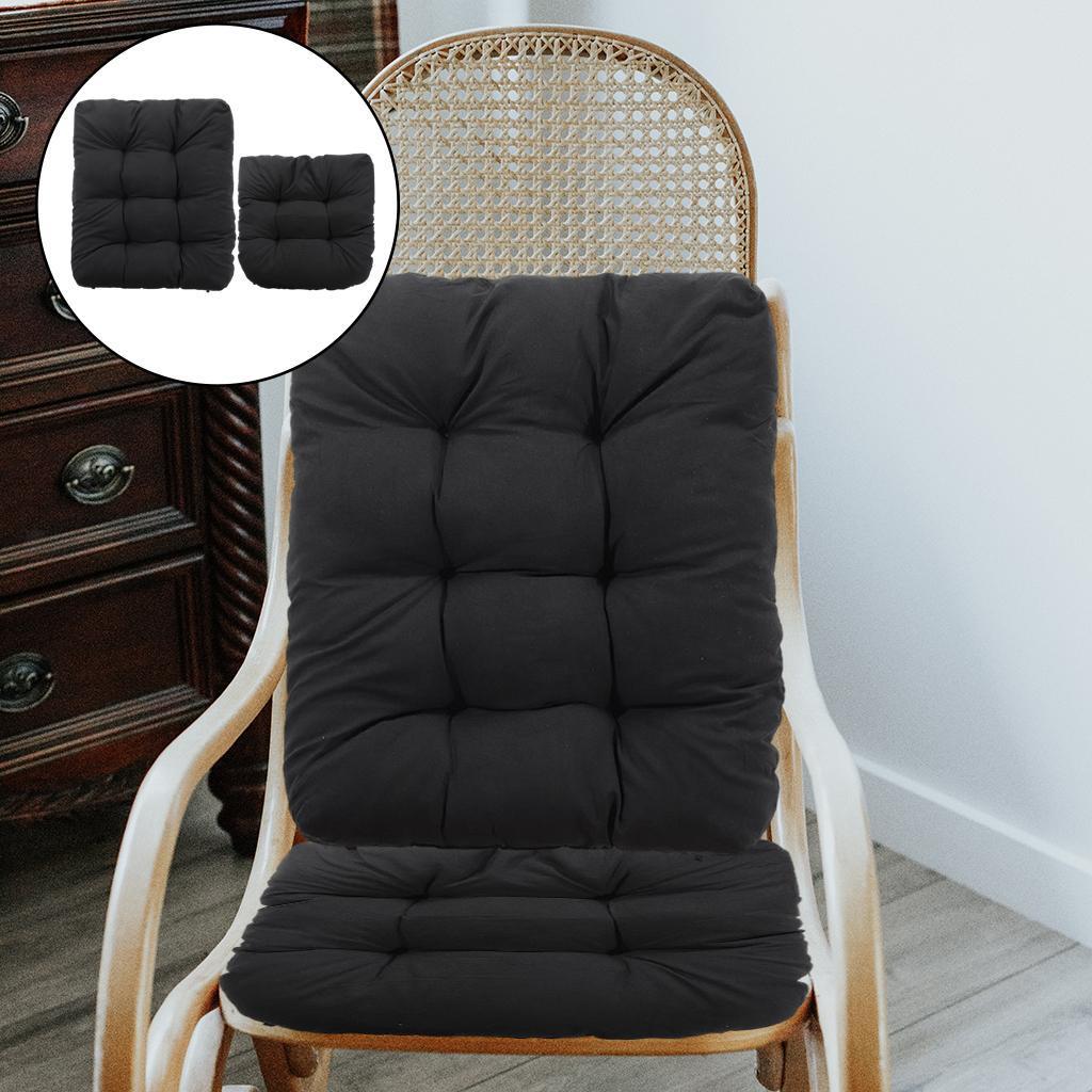 miniature 22 - Ensemble de coussins de chaise berçante inclinable avec attaches Jardin