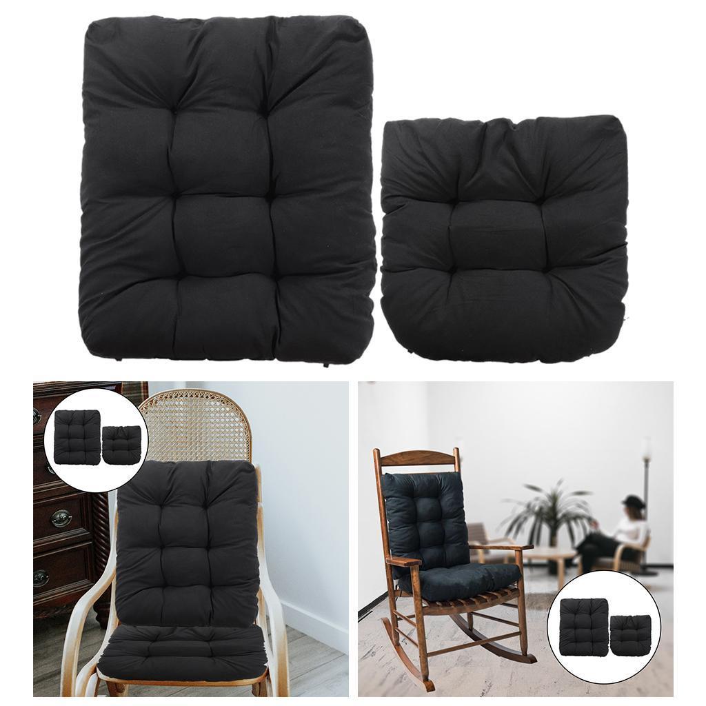 miniature 27 - Ensemble de coussins de chaise berçante inclinable avec attaches Jardin