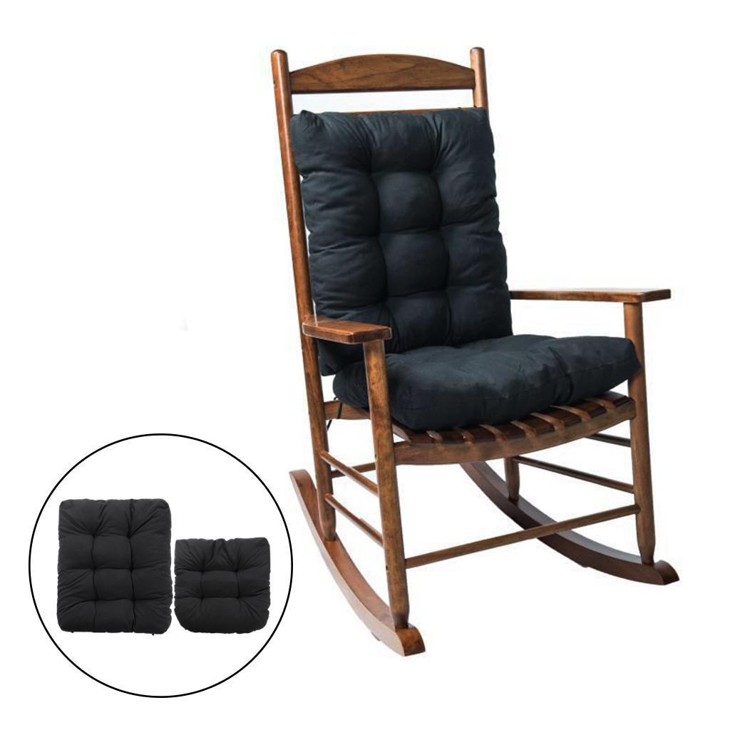 miniature 24 - Ensemble de coussins de chaise berçante inclinable avec attaches Jardin
