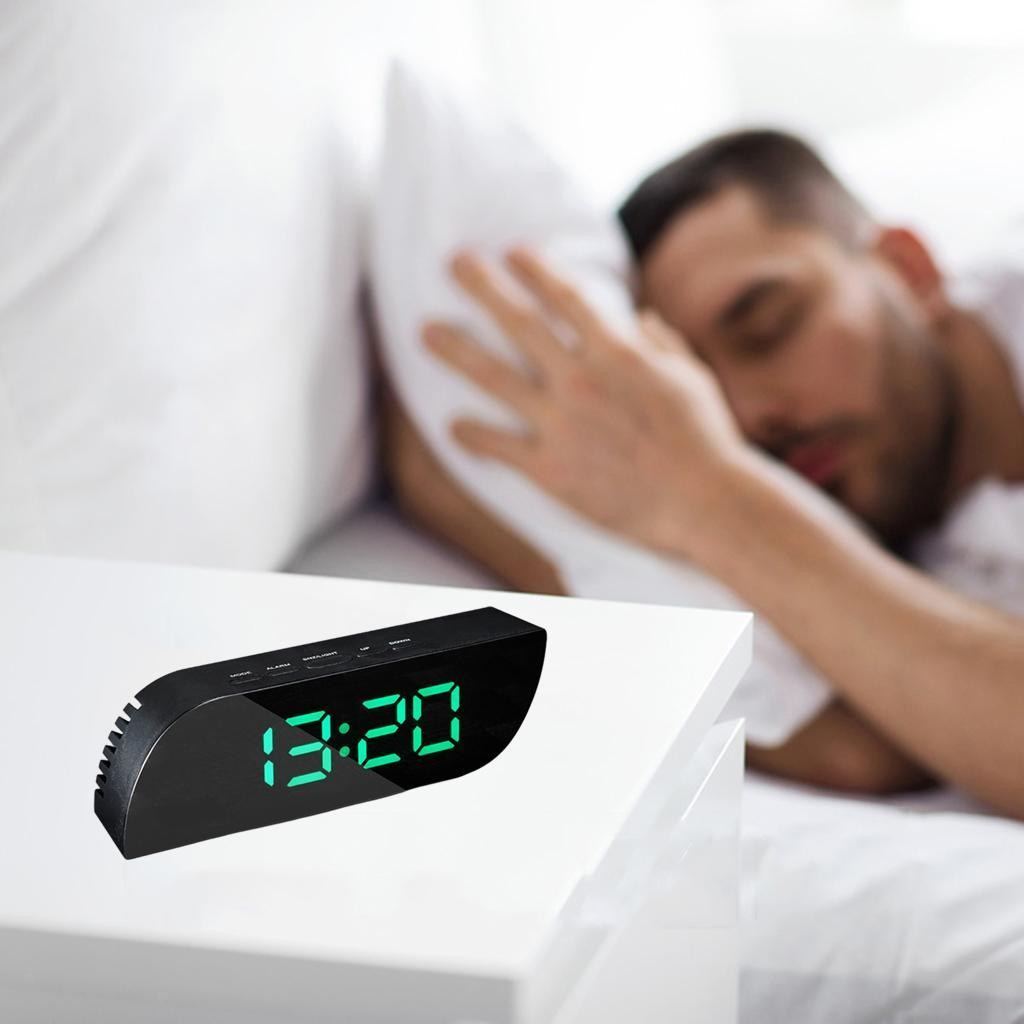 thumbnail 20 - Desk Digital Time Calendar Snooze Alarm Clock LED Large Mirror Temperature