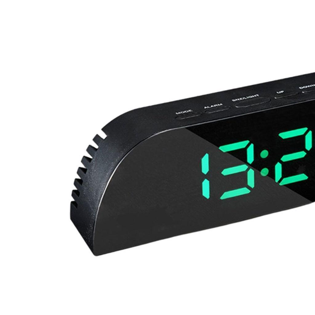 thumbnail 22 - Desk Digital Time Calendar Snooze Alarm Clock LED Large Mirror Temperature