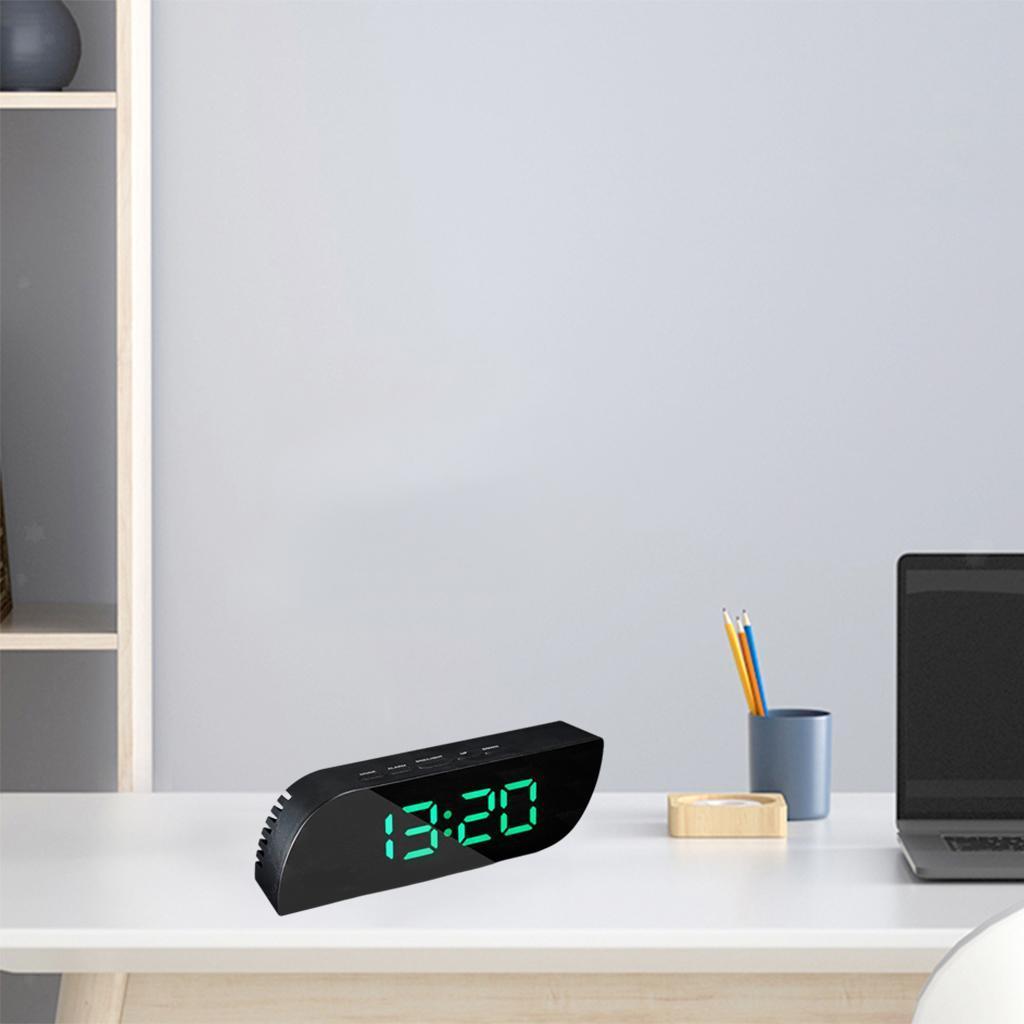 thumbnail 18 - Desk Digital Time Calendar Snooze Alarm Clock LED Large Mirror Temperature