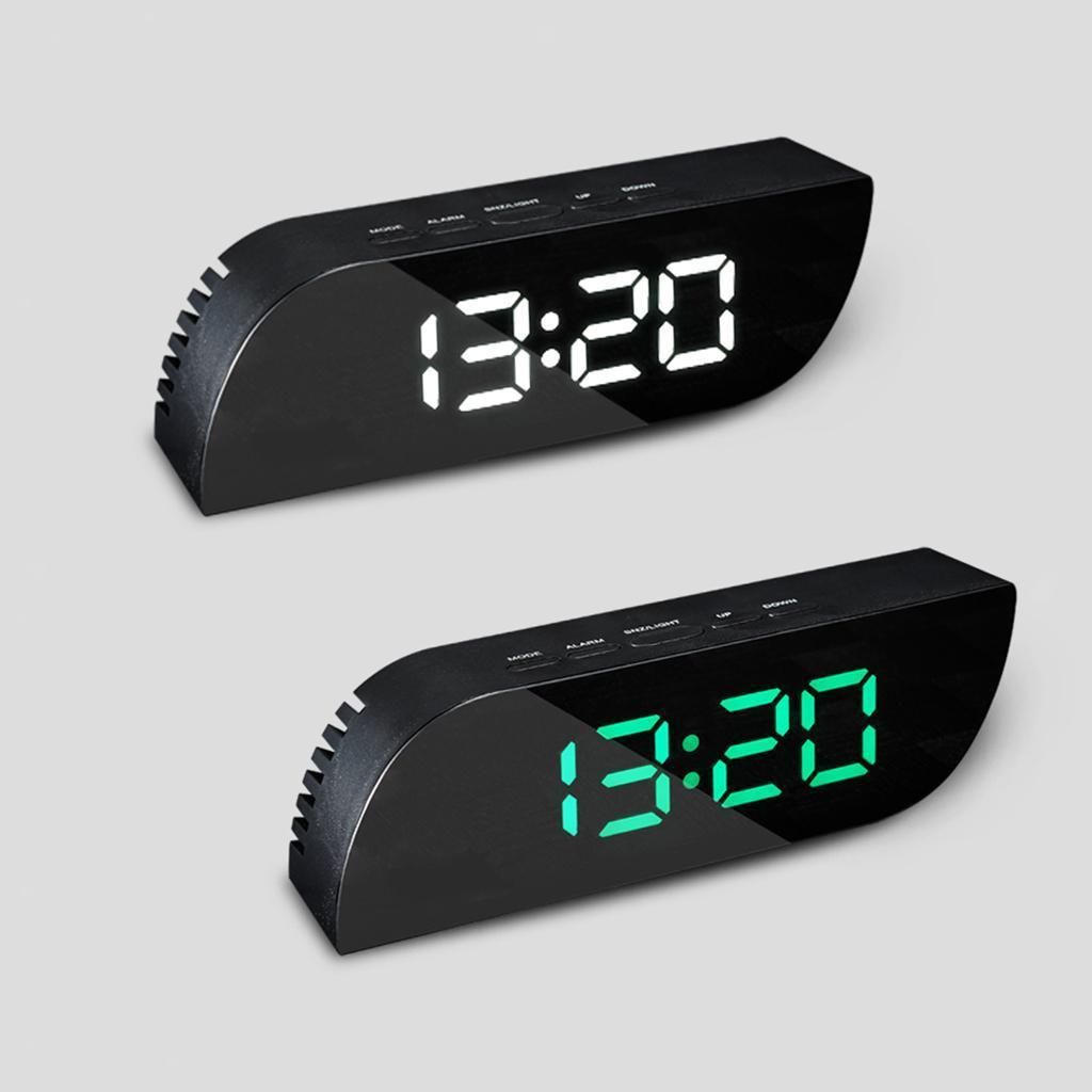 thumbnail 16 - Desk Digital Time Calendar Snooze Alarm Clock LED Large Mirror Temperature