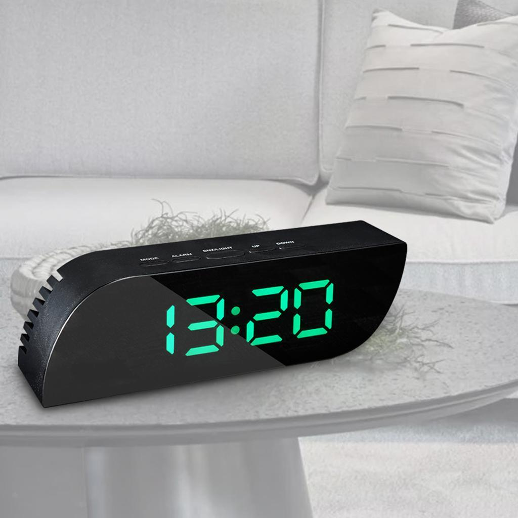 thumbnail 21 - Desk Digital Time Calendar Snooze Alarm Clock LED Large Mirror Temperature
