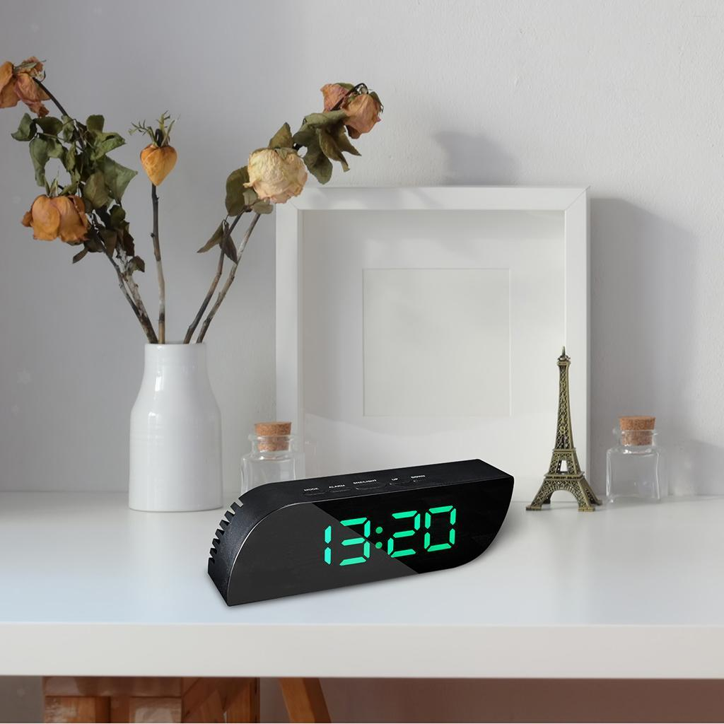 thumbnail 17 - Desk Digital Time Calendar Snooze Alarm Clock LED Large Mirror Temperature