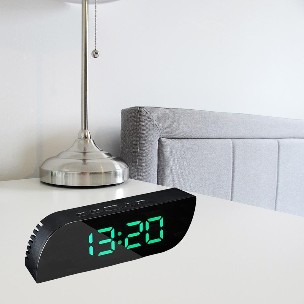 thumbnail 24 - Desk Digital Time Calendar Snooze Alarm Clock LED Large Mirror Temperature