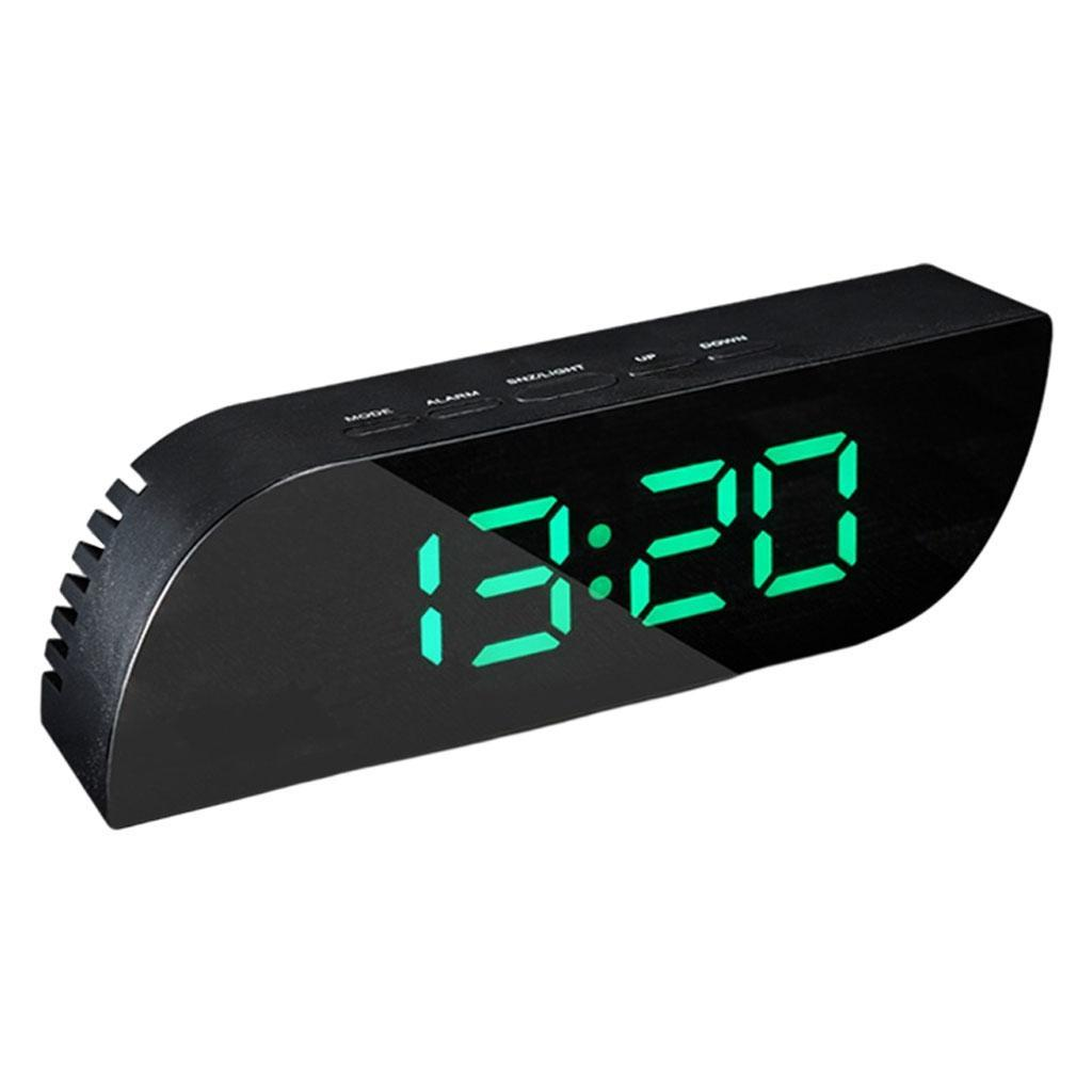 thumbnail 23 - Desk Digital Time Calendar Snooze Alarm Clock LED Large Mirror Temperature