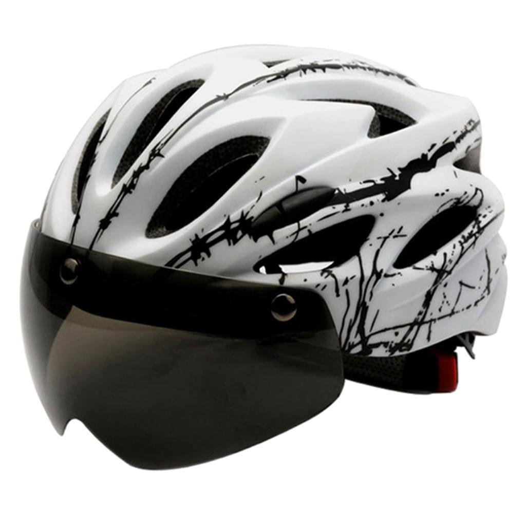 Ultralight Cycling Helmet with Removable Goggles Visor Bike Bicycle Safety Hat