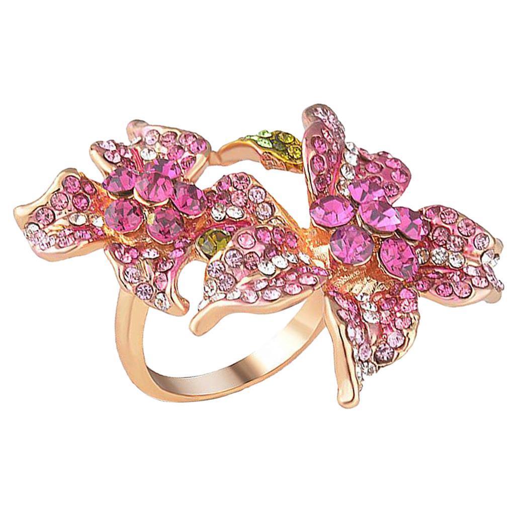 Indexbild 6 - Mode-Frauen-Schmuck-Kristall-Hochzeit-Verlobungsfeier-Ring-Groesse-6-9