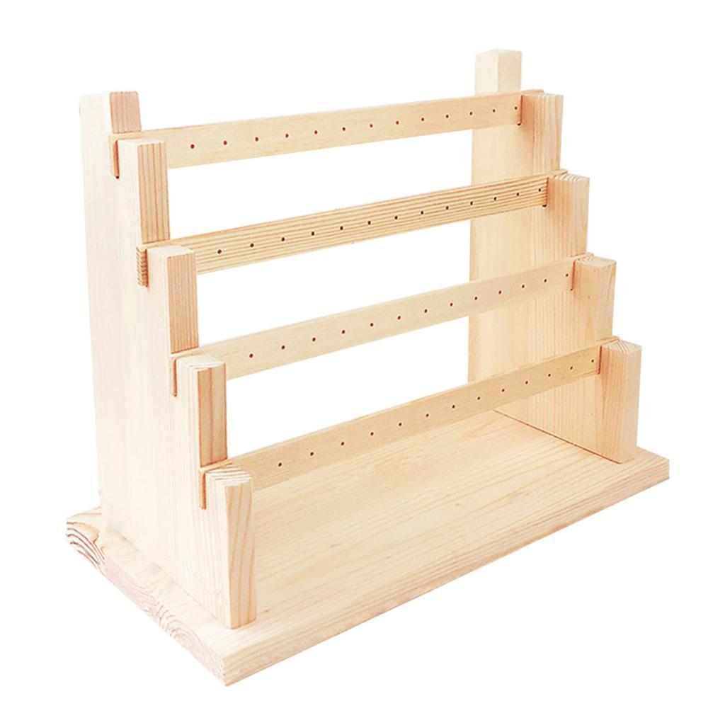 Holz-Ohrring-Stand-Ohrring-Halter-Display-Stand-Schmuck-Display-Rack Indexbild 6