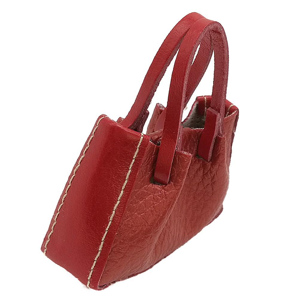 Girl Dolls PU Leather Handbag for 1//6 Blythe Dollfie Decor Accessories Red