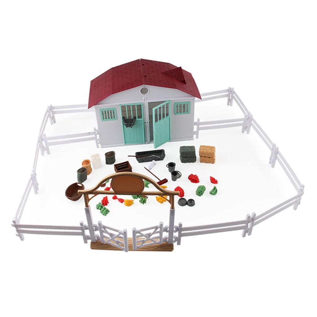 Jeu-de-Modele-de-Scene-de-Ferme-Jouets-pour-Enfants miniature 4