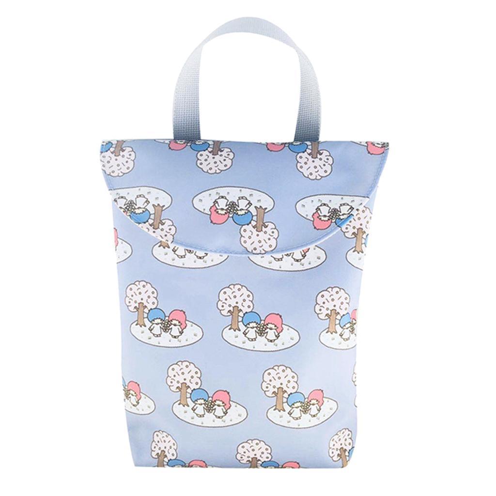 Baby-Diaper-Bag-Organizer-Fashion-Prints-Mummy-Storage-Bag-Outdoor-Reusable miniature 45