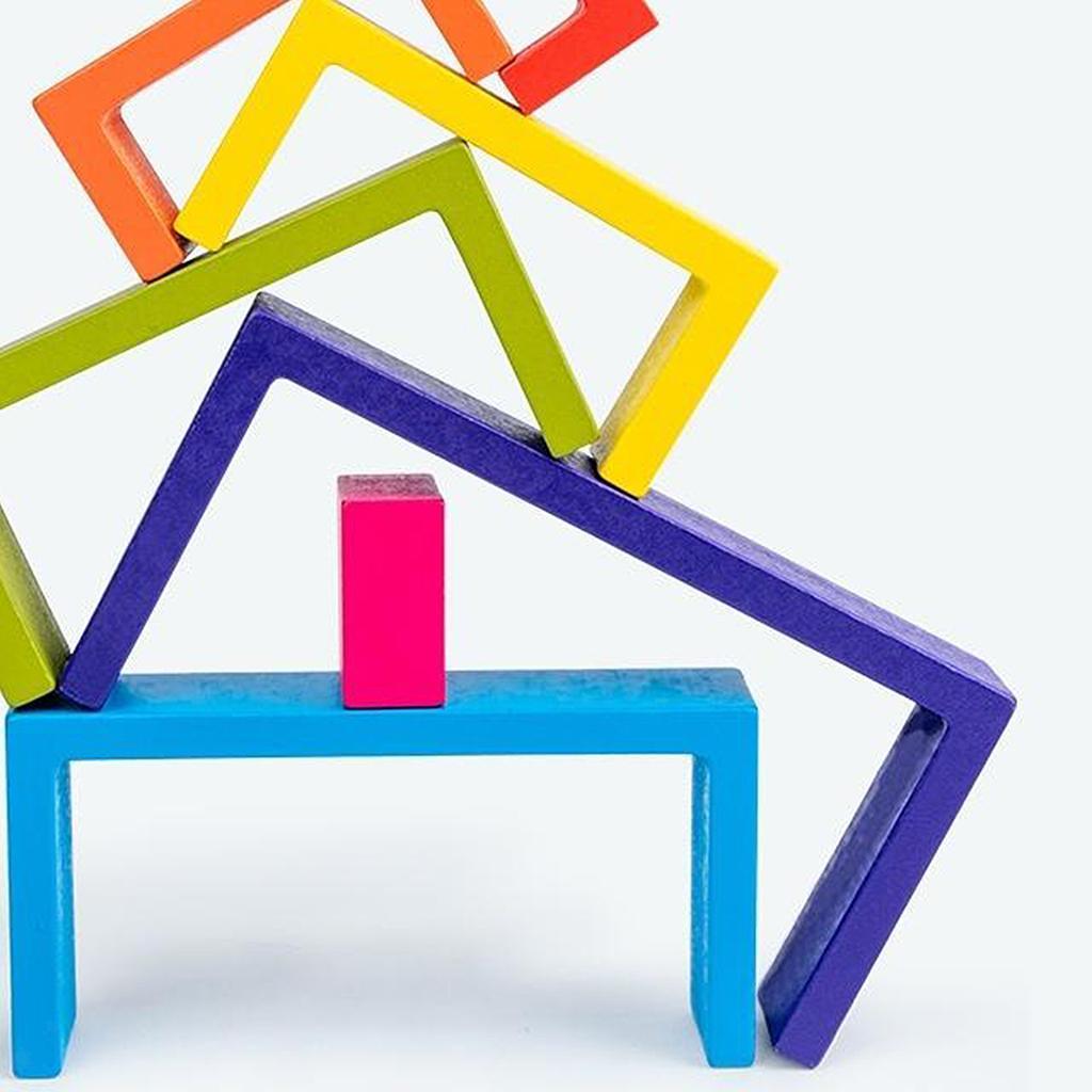 Blocchi-di-costruzione-giocattoli-per-bambini-in-legno-blocchi-di-nidificazione miniatura 7