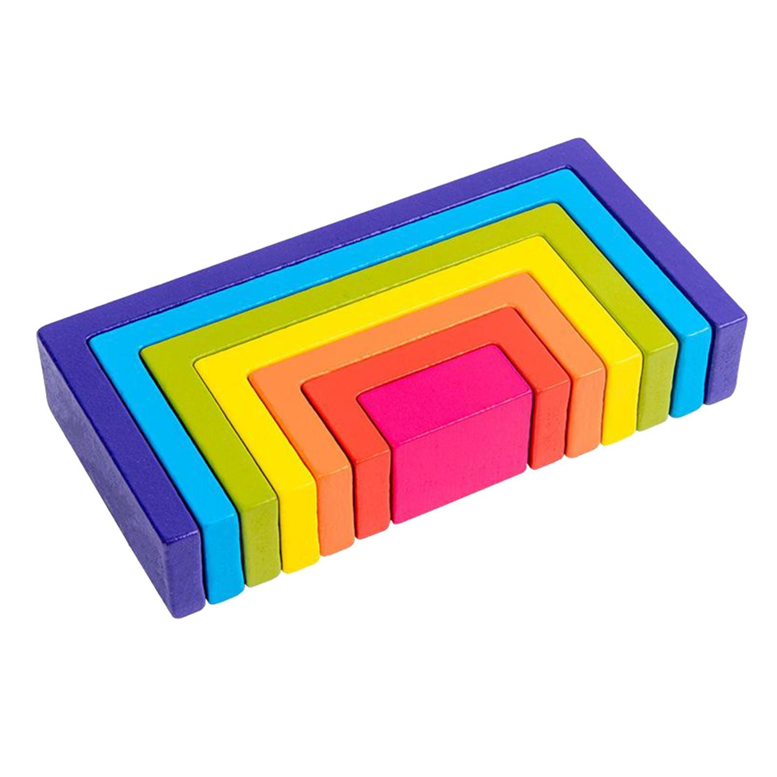 Blocchi-di-costruzione-giocattoli-per-bambini-in-legno-blocchi-di-nidificazione miniatura 6