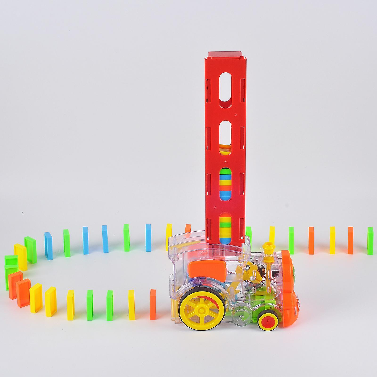 thumbnail 2 - Domino Electric Train Set Toy Building Blocks Game Toy Gift for Kids