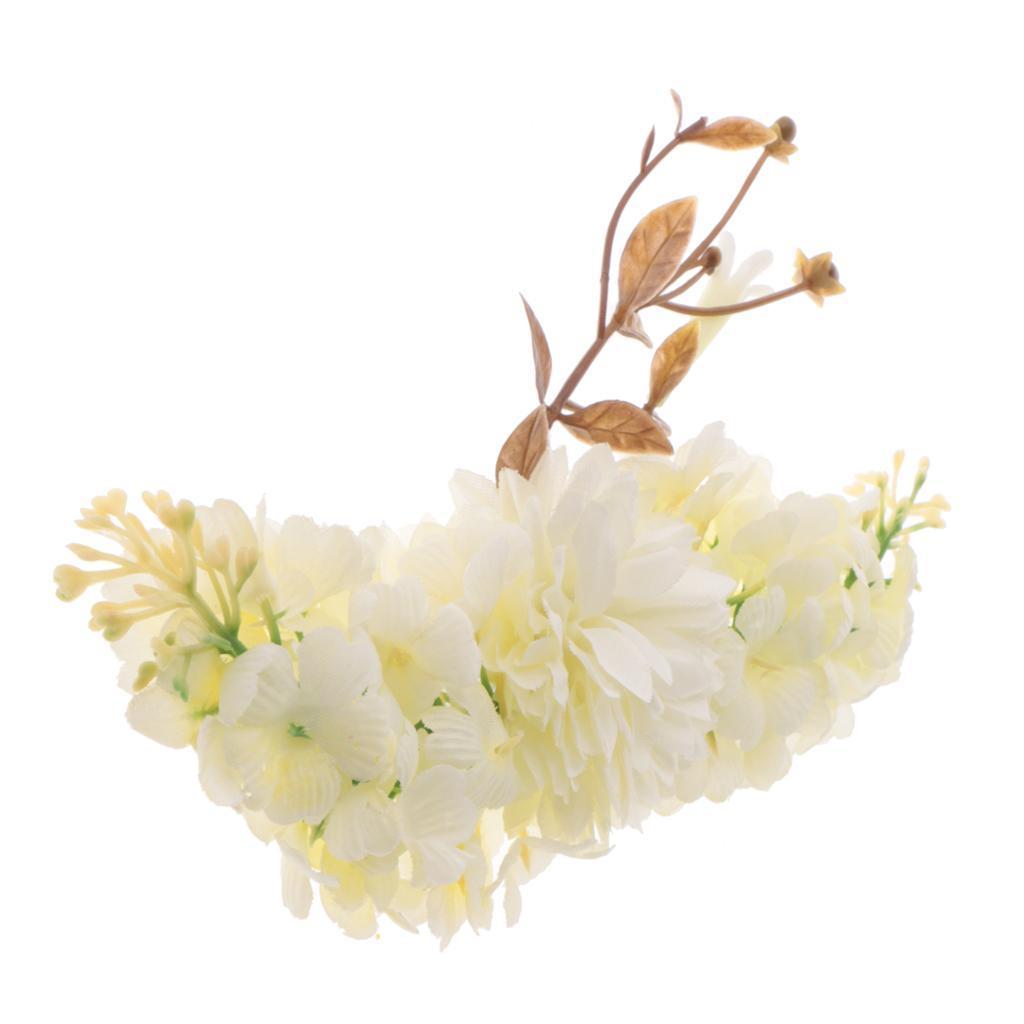 miniatura 5 - Il cappello di cerimonia nuziale floreale di seta del fiore della Rosa del