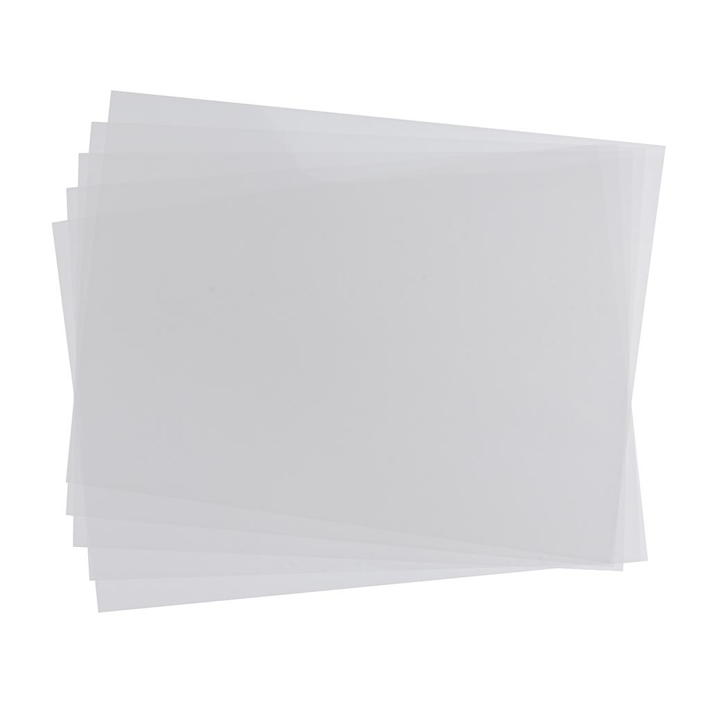 5pcs Frosted Heat Shrinkable Shrink Paper Film Sheets For DIY Key Ring Charm