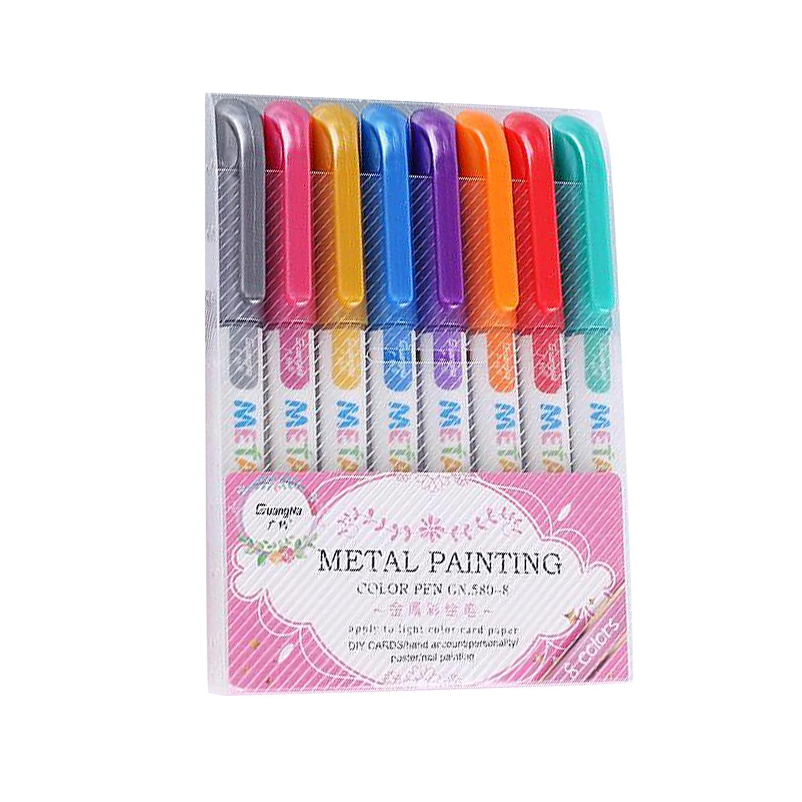 miniatura 4 - 8-12-20x-Permanente-Metallic-Marcatori-Vernici-Penne-per-Adulti-Colouring