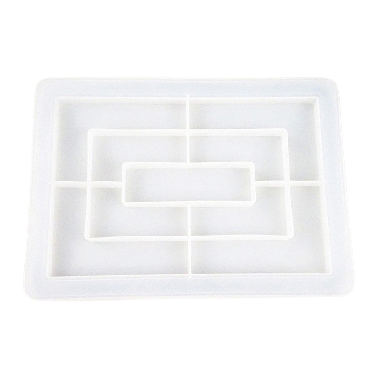 thumbnail 7 - DIY-Flexible-Silicone-Tray-Mold-Epoxy-Resin-Casting-Mould-Jewelry-Coaster-Crafts