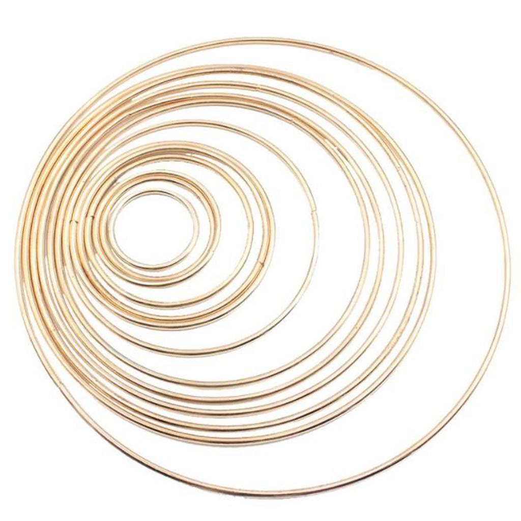 miniatura 55 - Anelli di metallo per Sogno Catchers Macrame Cerchi Mestiere Ruote