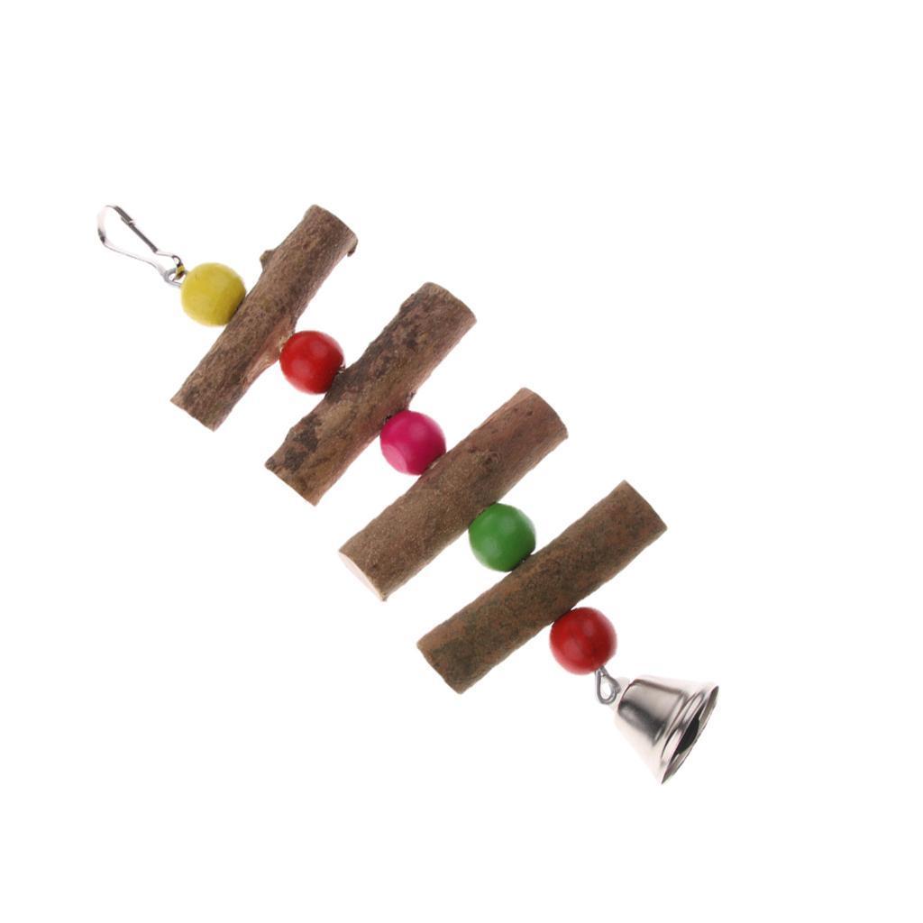 miniatura 3 - Pappagallo in legno per uccelli Giocattolo da masticare Giocattolo da masticare