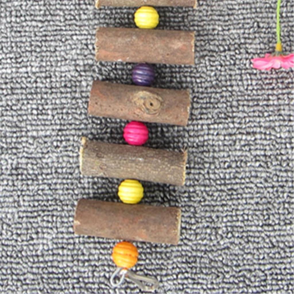 miniatura 4 - Pappagallo in legno per uccelli Giocattolo da masticare Giocattolo da masticare