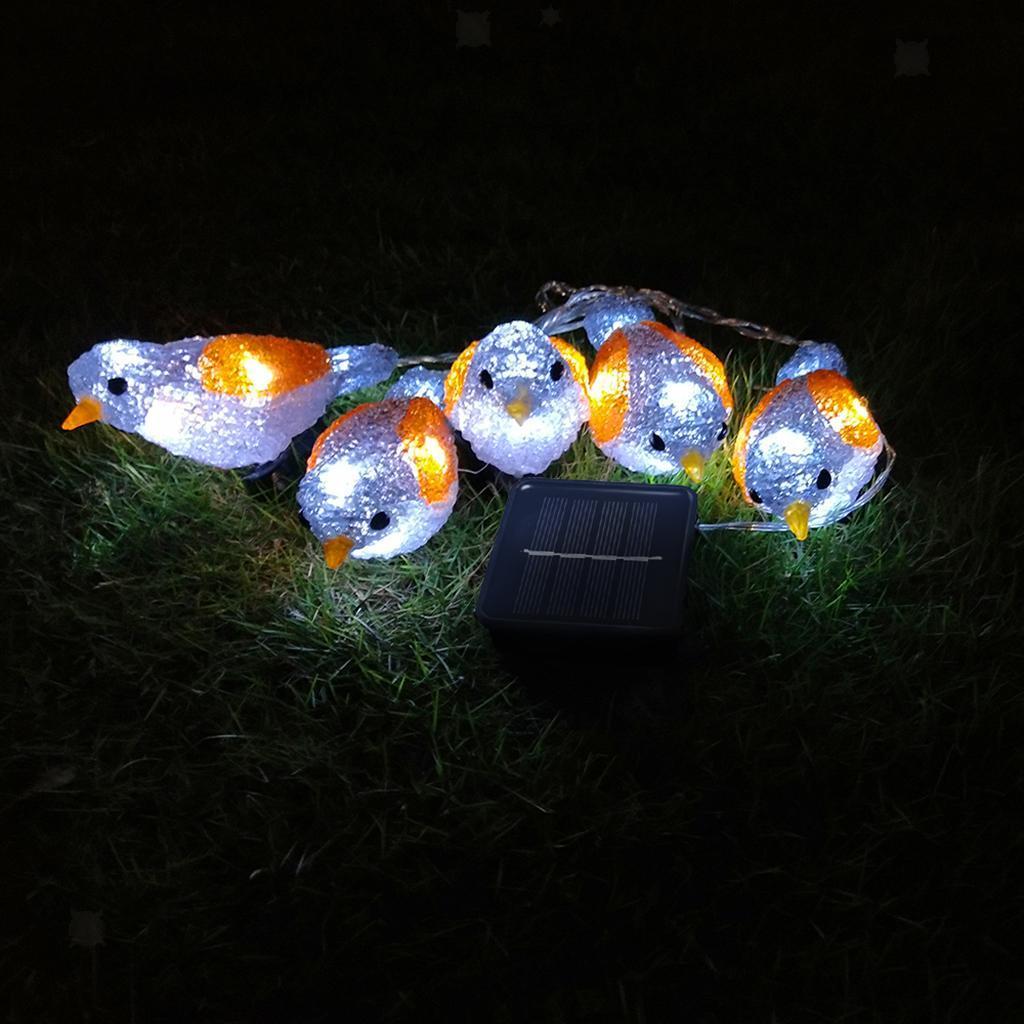 miniature 27 - 5 solaire Oiseaux Jeu de Lumières avec Clip Jardin Paysage De Noël Décor