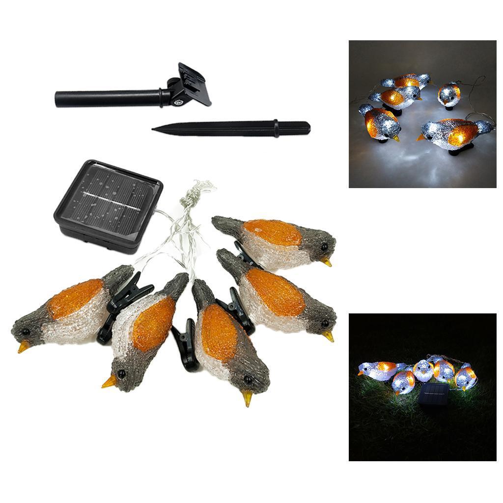 miniature 22 - 5 solaire Oiseaux Jeu de Lumières avec Clip Jardin Paysage De Noël Décor