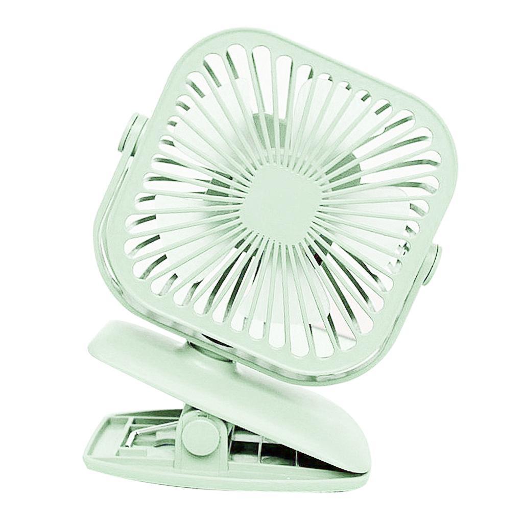 USB-Mini-Fan-Clip-Rechargeable-Ventilateur-De-Bureau-2-Vitesse-600mAh-Batterie miniature 9