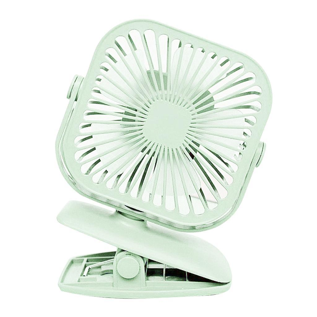 USB-Mini-Fan-Clip-Rechargeable-Ventilateur-De-Bureau-2-Vitesse-600mAh-Batterie miniature 8