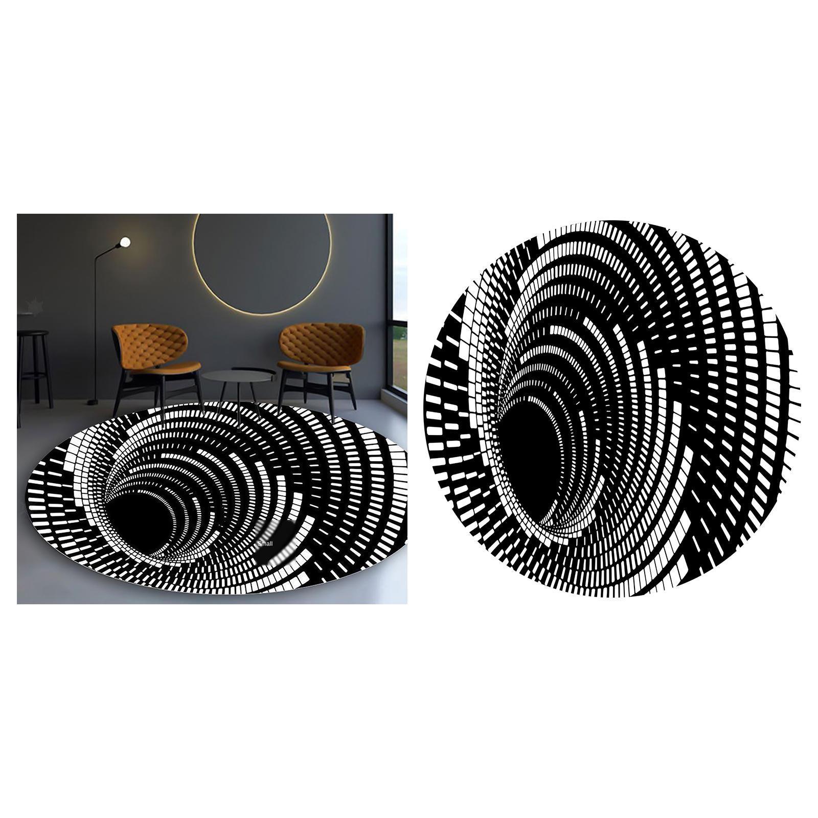 miniatura 13 - Tappetino-per-tappetino-antiscivolo-con-motivo-a-vortice-rotondo-3D