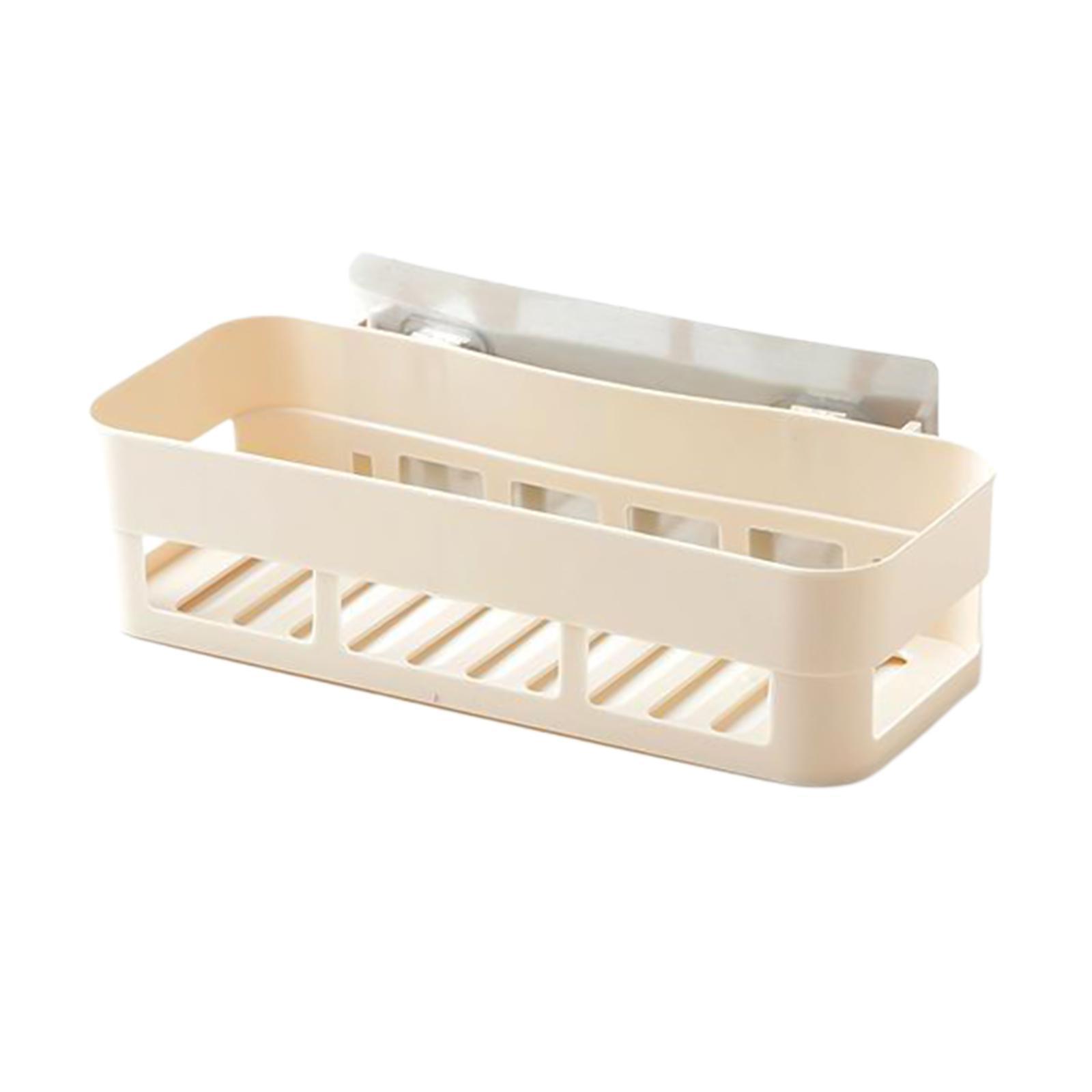 thumbnail 9 - Self-Adhesive-Shower-Shelf-Plastic-Shower-Caddy-Organiser-Bathroom-Shelf