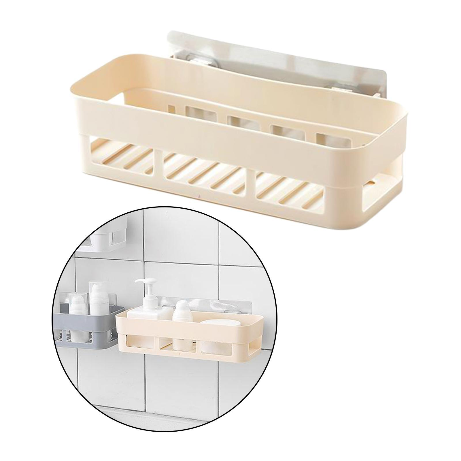 thumbnail 7 - Self-Adhesive-Shower-Shelf-Plastic-Shower-Caddy-Organiser-Bathroom-Shelf