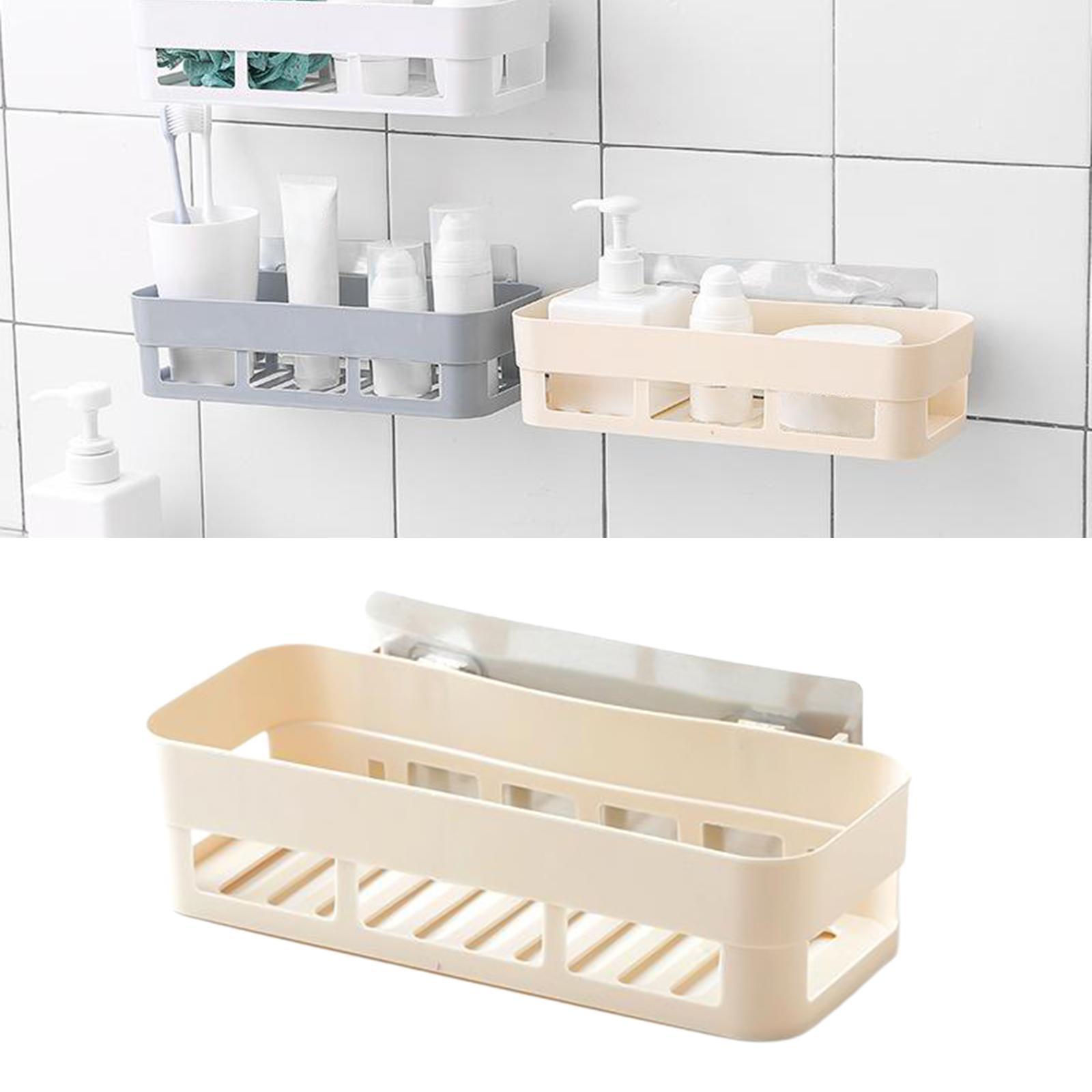 thumbnail 5 - Self-Adhesive-Shower-Shelf-Plastic-Shower-Caddy-Organiser-Bathroom-Shelf