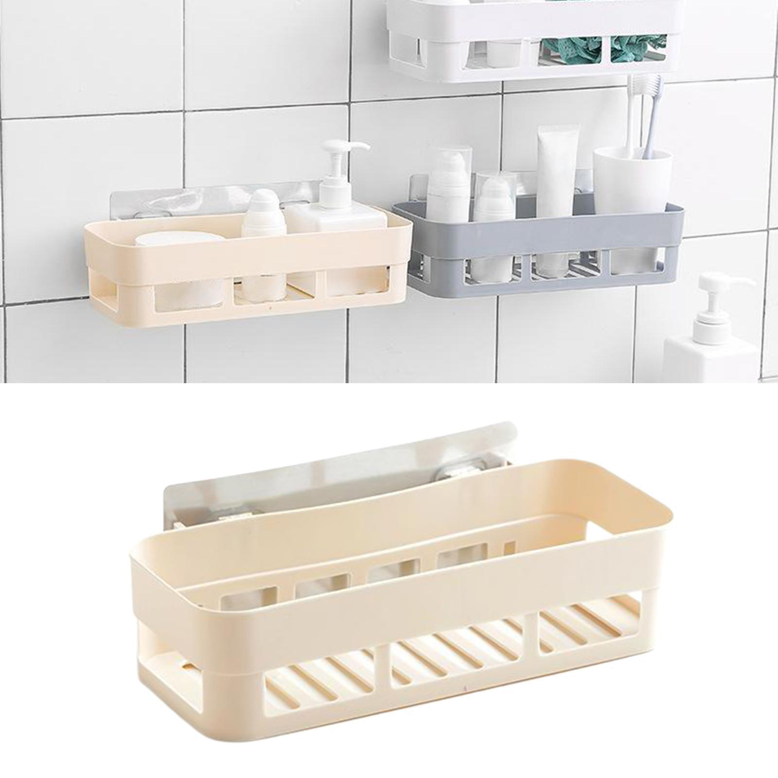 thumbnail 8 - Self-Adhesive-Shower-Shelf-Plastic-Shower-Caddy-Organiser-Bathroom-Shelf