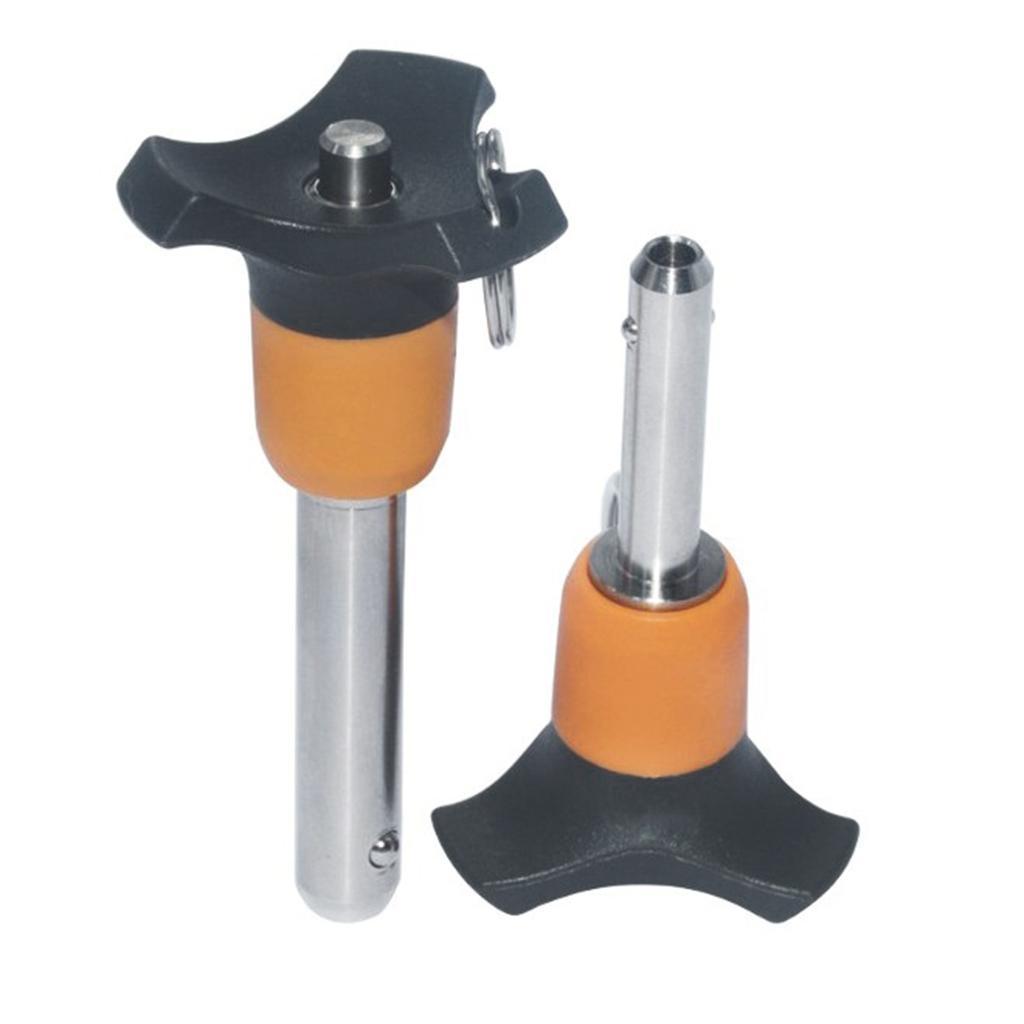 Φ 10mm Kugelsperrbolzen Edelstahl Steckbolzen Verschlussbolzen mit Ringgriff,
