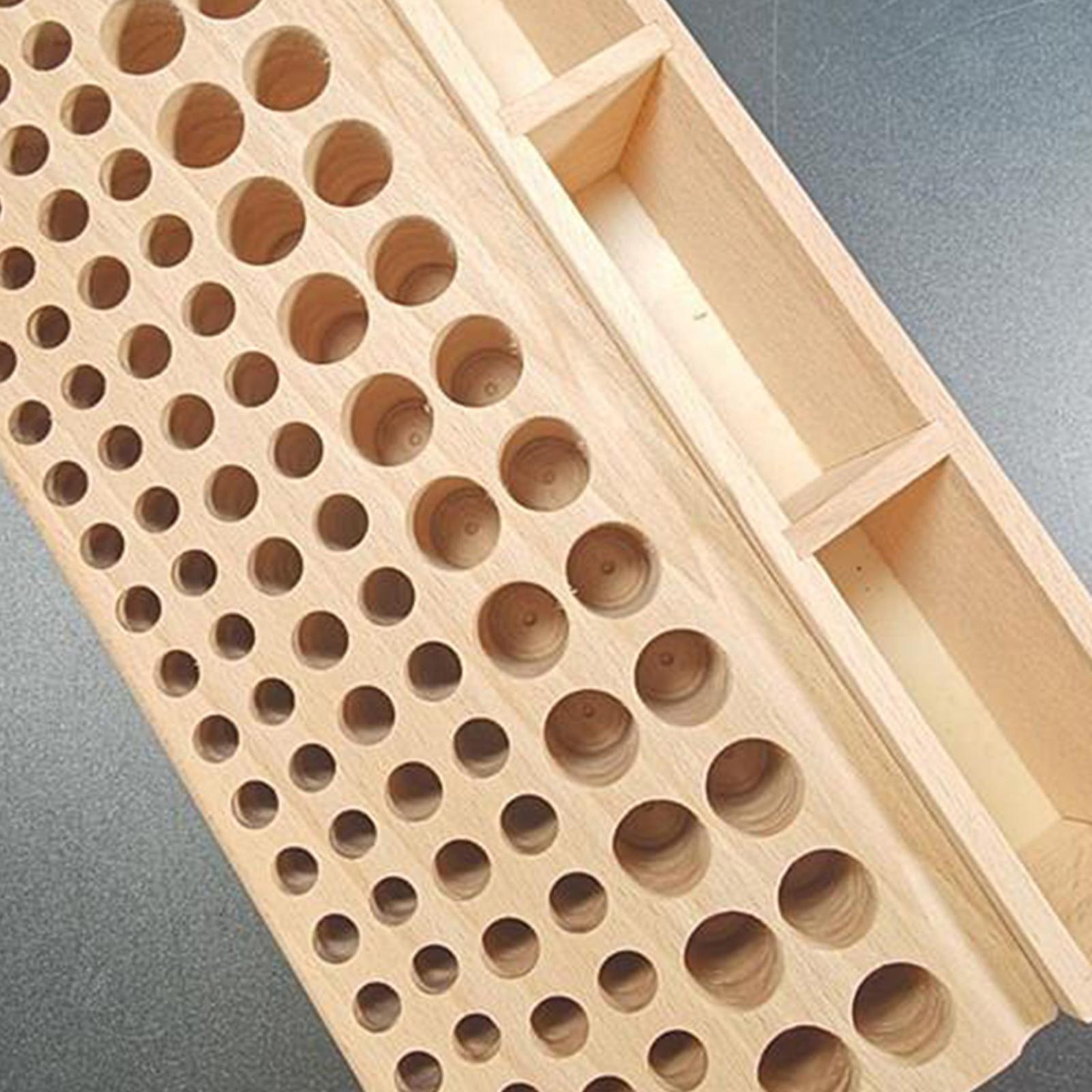 Indexbild 6 - Holz-Leder-Punch-Handwerk-Werkzeug-Rack-46-98-Loecher-Leathercraft-Stehen-Halter